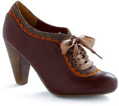 Modcloth - About the Benjamins heel in chocolate.
