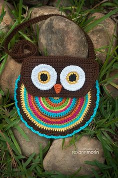 Cute retro crochet owl purse/bag - pay-for pattern on Ravelry