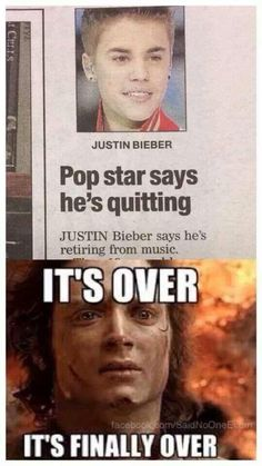 I love Justin Bieber but this is funny. Haha