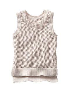Knit mesh hi-lo tank Product Image