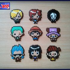 One Piece characters hama mini beads by Pixl and