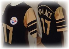 Completely Unofficial Upcycled Pittsburgh Steelers Jersey T-Shirt