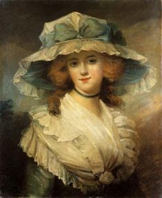 Portrait of a lady by George Romney. Possibly a portrait of Emma Hart, future lady Hamilton. From Leon Piniński's collection