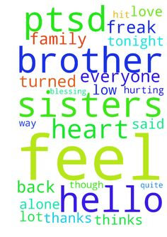 hello brother & sisters in Christ, please pray for - hello brother amp; sisters in Christ, please pray for me, my ptsd has hit a low again, im feeling the suicidal urges quite strong again. I feel alone and am hurting in my heart. My family have turned their back on me and i feel as though everyone thinks im some freak. Tonight my husband said my Ptsd triggers is getting in the way of his life I need to feel Gods love Please. also a finacial blessing would help a lot too. thanks Posted at…