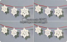 #코바늘 #눈꽃장식 #만들기 #crochet #snowflake #pattern #diy #handmade