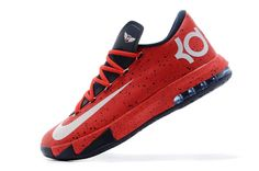 """http://www.jordan2u.com/nike-kevin-durant-kd-6-vi-red-speckle-pe-online-for-sale.html Only$70.00 #NIKE KEVIN DURANT KD 6 VI """"RED SPECKLE"""" PE ONLINE FOR SALE #Free #Shipping!"""