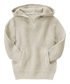 Look at this Light Khaki Textured Hoodie - Toddler & Boys on #zulily today!
