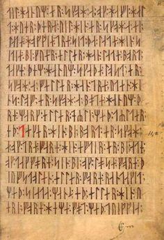 Le Codex Runicus est l'un des seuls manuscrits écrits en runes. Rédigé au Danemark vers 1300, il comprend notamment la loi de Scanie, avec, par exemple, ici une disposition concernant les litiges survenant à propos des essaims d'abeilles. Pour en savoir plus: http://www.fafnir.fr/codex-runicus.html.