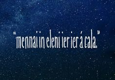 """""""Until the stars are all alight."""" 