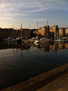 Walking along the marina in Portishead. The perfect walk...