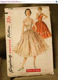 Summer Sewing Sale Simplicity 1158 Vintage by EleanorMeriwether, $8.00