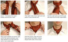 secret little gem: how to tie an ascot