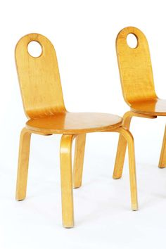 Anonymous; Bent Plywood Chairs by Thonet, 1960s.