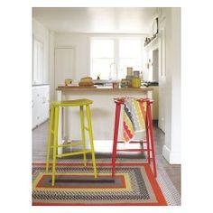 TALIA Green bar stool H78cm