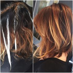 """""""Existing ombré + Balayage + Base color = Beautiful Dimensional Color ❤️ #audratonghair #balayage #ombre #haircolor #haircut #trusttheprocess #warmblonde…"""""""