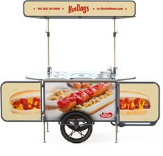 Start a Hotdog bike business with our new designed carts that can be used with a bicycle or as a push cart. Our carts can adapt to your vending needs !
