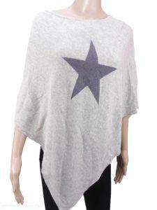 """Poncho """"STAR TO BE"""", verschiedene Farben"""