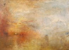 J.M.W. Turner (British, Romanticism, 1775-1851): Sun Setting over a Lake, c. 1840. Oil on canvas, 91.1 x 122.6 cm. Tate Britain, London, UK.