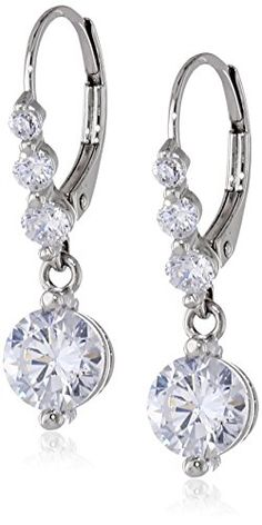 Sterling Silver Cubic Zirconia Round Lever Back Drop Earrings Amazon Curated Collection http://www.amazon.com/dp/B00LB3ZIAM/ref=cm_sw_r_pi_dp_qlZfub1EQ25TT