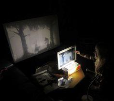Teatro de títeres de sombra de mesa con por ShadowPuppetStories