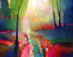 Breathtaking light and colours. MARK GOULD Contemporary Art Paintings Prints Assemblages Mixed Media Taos