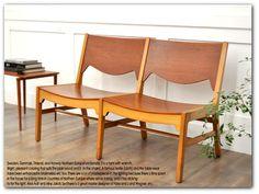 IZ00802M 北欧デンマーク 2連ベンチ椅子 チークレトロ60's Scandinavian teak furniture ¥72500円 〆03月27日
