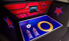 Wonder Woman Kia Sportage display case