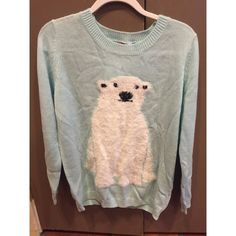 Very comfortable sweater! Never worn before, tags still on. Light blue sweater with a polar bear on front. Super cute!!! Just doesn't fit me :( H&M Sweaters Crew & Scoop Necks