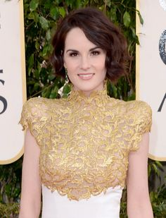 You'd think there would have been more emerald green, but Michelle Dockery's emerald #earrings were the only ones showing the color of 2013