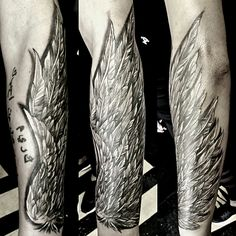 Wing on forearm