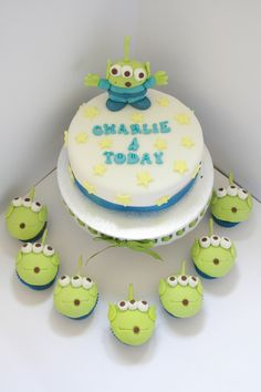 Toy Story Alien cake and cupcakes