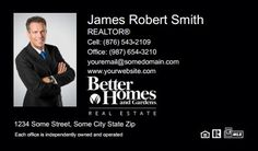 Better Homes And Gardens Business Cards - BHG-BC-019 - With Photo, Compact,  Medium Size Photo, Black
