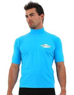 Plus Size Sun Protection Rash Shirt ,Short Sleeve