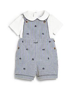 Ralph Lauren - Infant's Two-Piece Seersucker Overall & Bodysuit Set