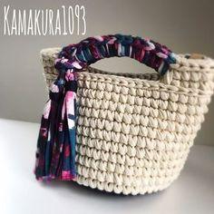 Accessory Inspiration Wool And The Crochet Tote, Crochet Handbags, Crochet Purses, Crochet Yarn, Tote Bags Handmade, Diy Tote Bag, Yarn Bag, Finger Knitting, Macrame Bag