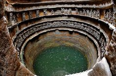 Rani Ki Vav (the Queen's Stepwell) in Patan, Gujarat, India - There is also a small Gate below the last step of the step well which is having a 30 kilometre tunnel built (Now its has been blocked by stones and mud) which leads to the town of sidhpur near patan. It was used as an escape gateway for king who built the step well in the times of defeat.