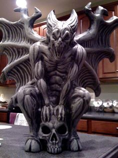 Admit it. You LOVE following me. I bring you gargoyles. Who else is bringing you gargoyles. I posit no one. -- LC