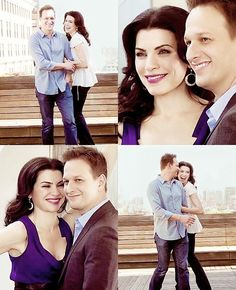 "Julianna Marguiles and Josh Charles. ""The Good Wife"""