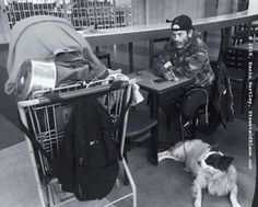 James, his dog, and his cart Seattle, Cart, Dogs, Animals, Covered Wagon, Animales, Animaux, Pet Dogs, Doggies
