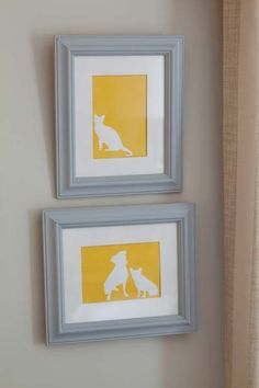 Pet Silhouettes - Another idea for craft night!