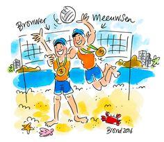 Bronwer & Meeuwsen! Olympische Spelen Rio 2016 by Blond-Amsterdam