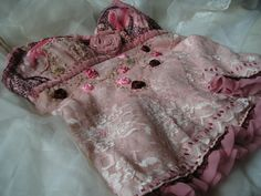 Reverie hand embroidered and beaded romantic top size M by EcoClo