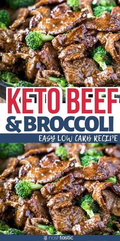 Low Carb Beef and Broccoli, a quick & easy beef stir fry recipe. It's a healthy low carb dinner recipe, kid and family friendly, no added sugar and perfect for those the ketogenic diet! My family loves this easy keto recipe is a great make at home Chinese Keto Foods, Ketogenic Recipes, Ketogenic Diet, Keto Meal, Keto Snacks, Paleo Diet, Healthy Low Carb Dinners, Low Carb Dinner Recipes, Easy Meals