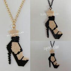 Miyuki Ayakkabı Kolye Designed by @supertakilar Kendi tasarımım.. #miyuki #handmade #supertakilar #jewellery