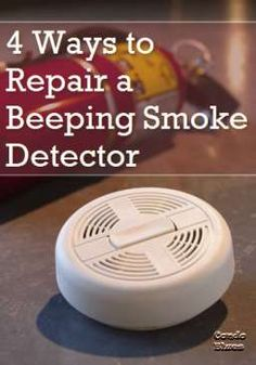 DIY:  How to Repair a Beeping Smoke Detector - 3 ways to fix a hard-wired smoke detector that only beeps incessantly at night - via Condo Blues