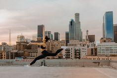 #dance #leap #joy #thrivesociete #sunset #skyline #DTLA #active #activewear #athleisure #leggings #sportsbra
