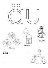 arbeitsblatt zum ausmalen eu | buchstaben lernen, lernen, alphabet
