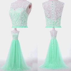 Cheap~Lace Satin Formal Bridesmaid Dresses Party Evening Prom Dresses Plus Size #GraceKarin #BallGown #Clubwear