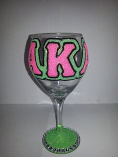 Alpha Kappa Alpha Sorority, Inc Wine Glass