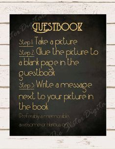 Polaroid Camera Guest Book Sign - Great Gatsby Themed Wedding -  Printable Design 8x10 JPG DIY Instant Download Digital Files Only